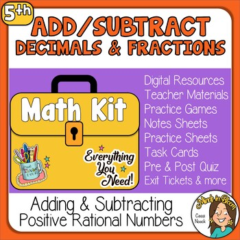 Adding & Subtracting Fractions & Decimals Image