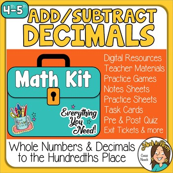 Adding & Subtracting Decimals & Whole Numbers Image