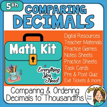 Comparing & Ordering Decimals - Thousandths Image